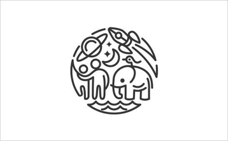 Happy-Place-Thin-Line-Logo-Design
